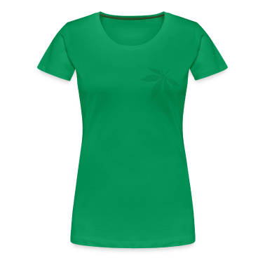 Grass green Cannabis / Marijuana Leaf (rasterized / spotted) Women's T-Shirts