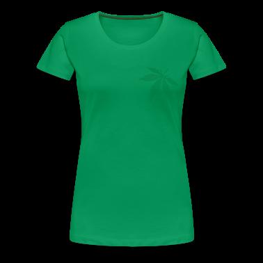 Grass green Cannabis / Marijuana Leaf (rasterized / spotted) Women's T-Shirts