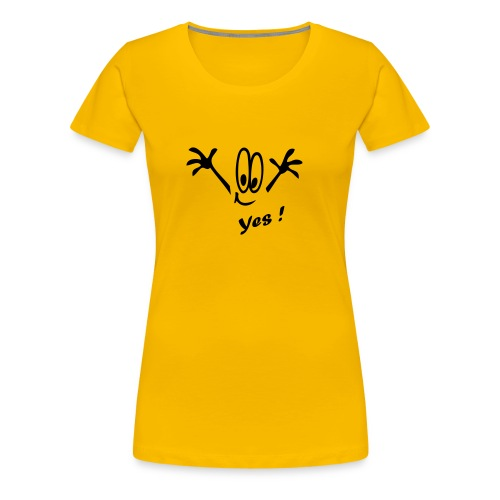 Sag ja zum Leben - Frauen Premium T-Shirt
