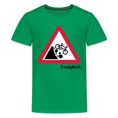 Falling Mountain Bikers - Teenage Premium T-Shirt
