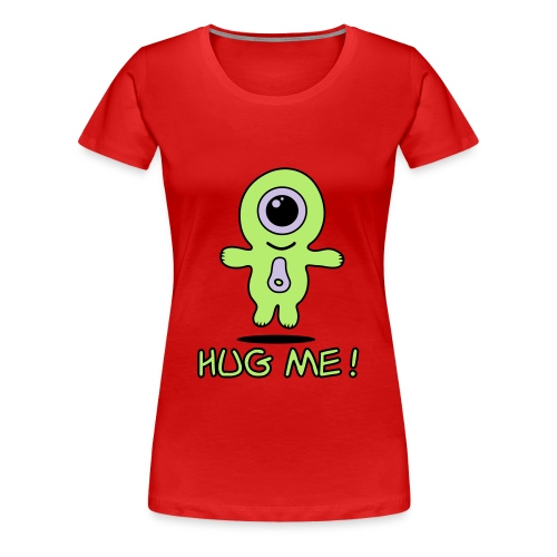 Alien lime - Dame premium T-shirt