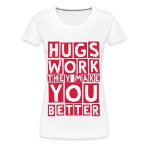 hugs work (F) - Women's Premium T-Shirt