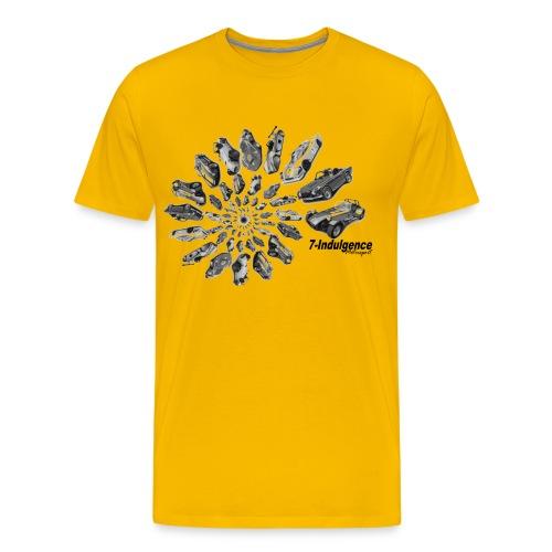 Black and white swirl (light fabric) - Men's Premium T-Shirt
