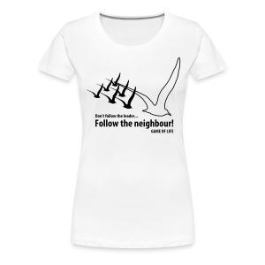Emergence | Zwart | V - Vrouwen Premium T-shirt