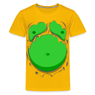 Shirts ~ Teenage Premium T-Shirt ~ Comic Fat Belly Green, beer gut, beer belly, chest t-shirt
