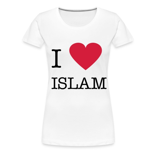 I heart ISLAM Classic Girlie Shirt White - Women's Premium T-Shirt