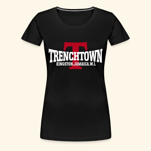 TRENCHTOWN BLANC & ROUGE - T-shirt Premium Femme