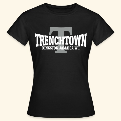TRENCHTOWN BLANC & ARGENT - T-shirt Femme