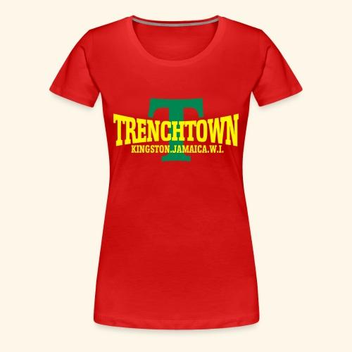 TRENCHTOWN JAUNE & VERT - T-shirt Premium Femme