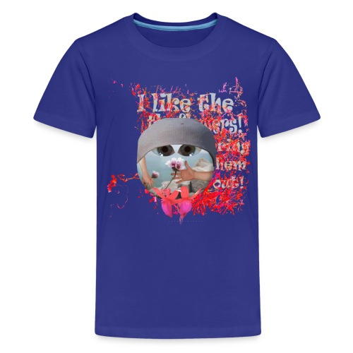 T-shirt børn, I like the flowers - Teenager premium T-shirt