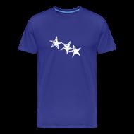 T-Shirts ~ Männer Premium T-Shirt ~ Shirt Sterne Weiß BOY