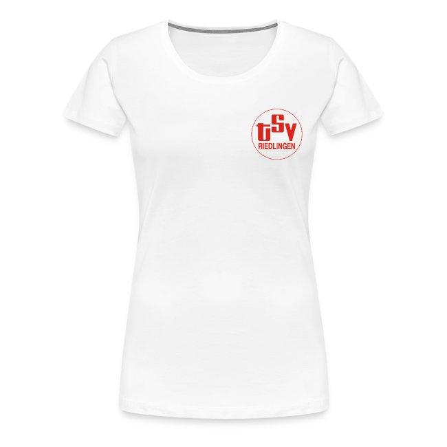 Frauen Girlieshirt klassisch Logo weiß
