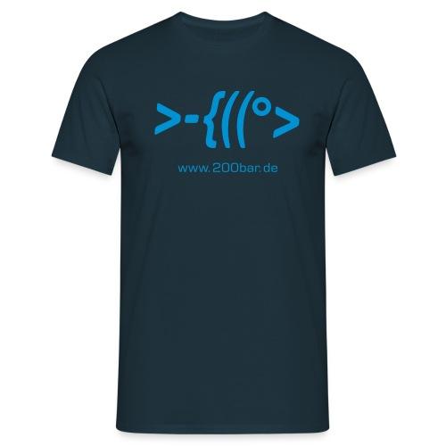 200bar.de Shirt Navy 3 - Männer T-Shirt