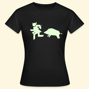 Shirt für Jägerinnen Flucht *NEU* - Frauen T-Shirt