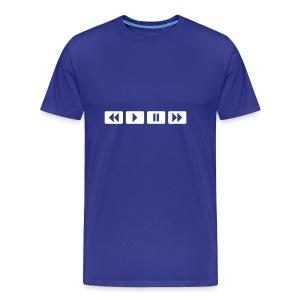Rewind, Play - Mannen Premium T-shirt