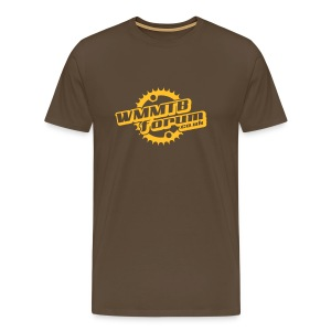 WMMTB Forum 'Logo' tee (yellow gold print) - Men's Premium T-Shirt