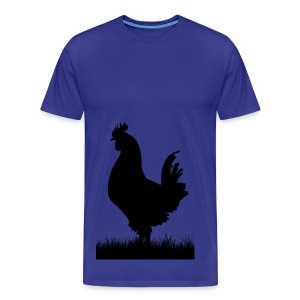 Kura - przód i tył (Męska) - Koszulka męska Premium