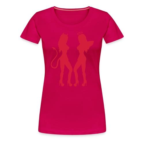 Demon och ängel - Premium-T-shirt dam