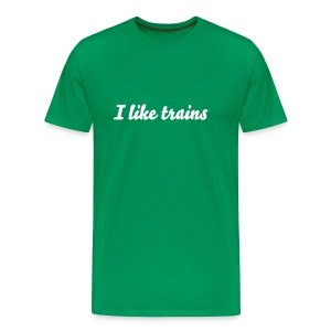 I like trains - Mannen Premium T-shirt