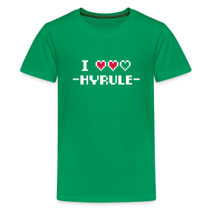 I Love Hyrule - Teenage Premium T-Shirt