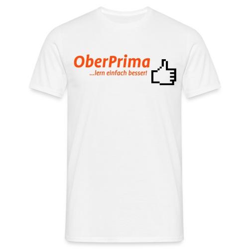 Oberprima-Logo vorne und www.OberPrima.com hinten +10€ Spende (freie Farbwahl) - Männer T-Shirt