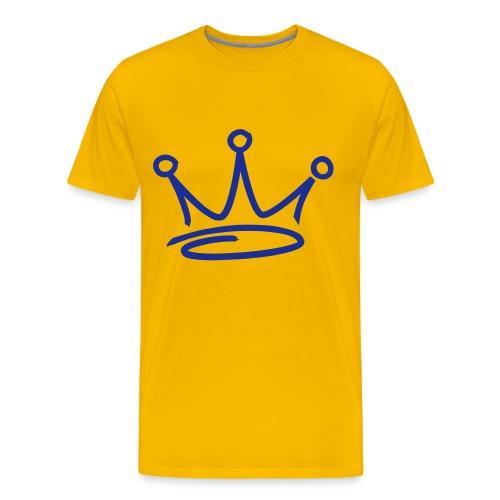 GET BUSY YELLOW TEE - Men's Premium T-Shirt