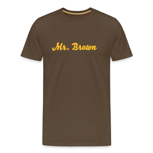 Mr. Brown T-Shirt - Mannen Premium T-shirt