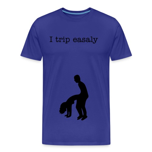 Its nice to trip from time to time(Blue) - Men's Premium T-Shirt