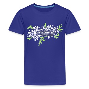 türkieses Kinder-T-Shirt Caribean - Teenager Premium T-Shirt