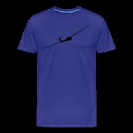T-Shirts ~ Männer Premium T-Shirt ~ Segelflieger schwarz +Vereinlogo (Rücken)
