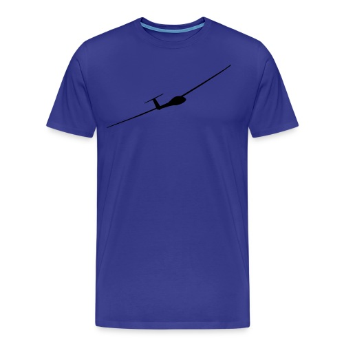 Segelflieger schwarz +Vereinlogo (Rücken) - Männer Premium T-Shirt