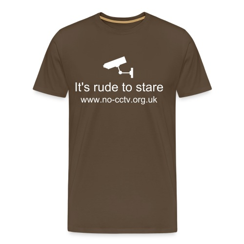 No CCTV - It's rude to stare, with camera - Men's Premium T-Shirt