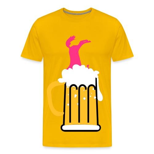 Drickande häst! - Premium-T-shirt herr