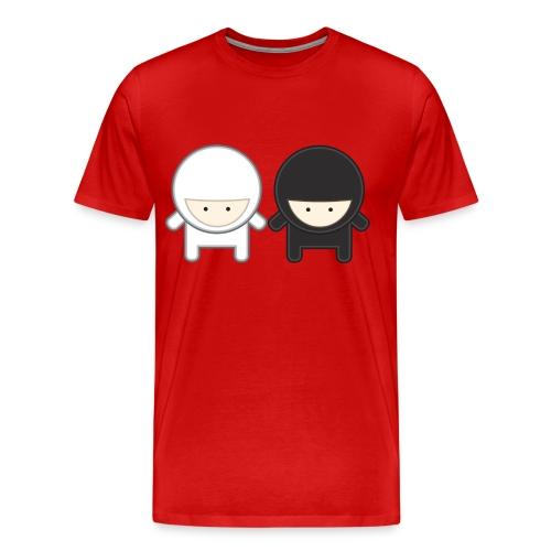 WHITE AND BLACK MINI NINJAS - Men's Premium T-Shirt