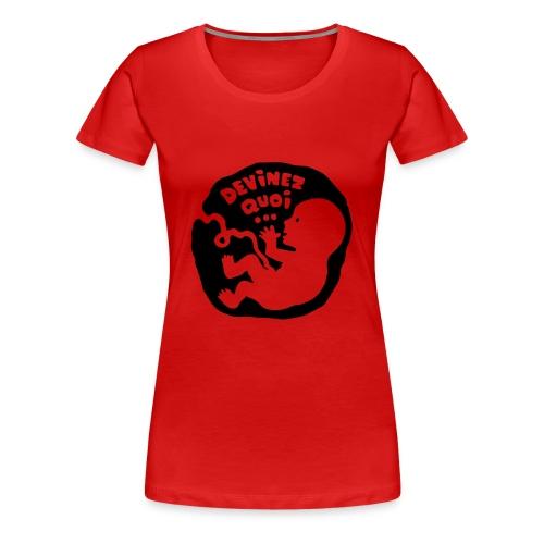 garçon ou fille? - T-shirt Premium Femme