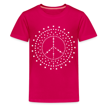 Pink peace_mandala Kids' Shirts