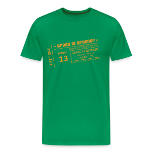 grass is greener - Männer Premium T-Shirt