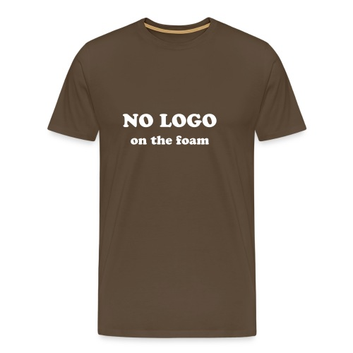 no logo on the foam - Men's Premium T-Shirt