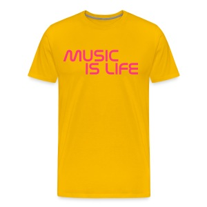 GeTaRemIx Music is life shirt - Men's Premium T-Shirt