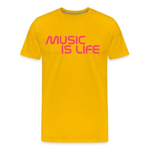 GeTaRemIx Music is life shirt - Men's Premium T-Shirt
