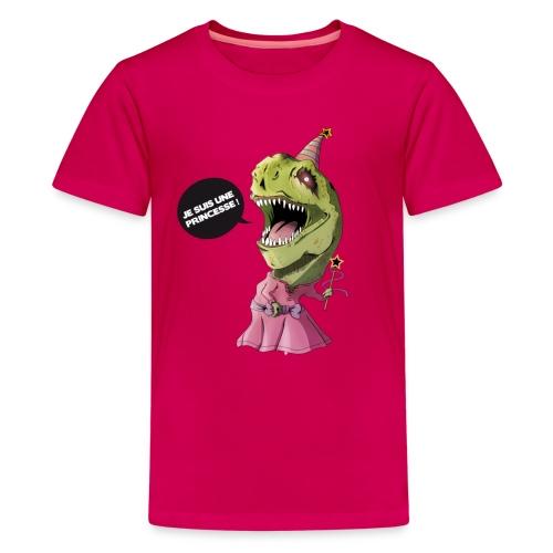 Princesse Tyrannosaure - T-shirt Premium Ado