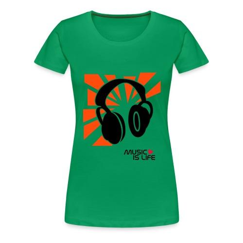 Musikk  - Premium T-skjorte for kvinner