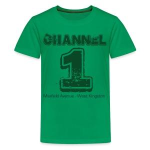 Channel 1 - Maxfield Ave - Teenage Premium T-Shirt