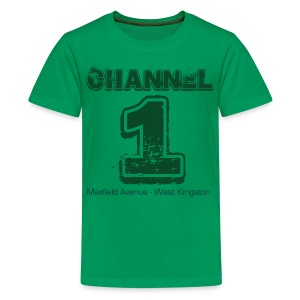 Channel 1 - Maxfield Ave - Teenage Premium T-Shirt