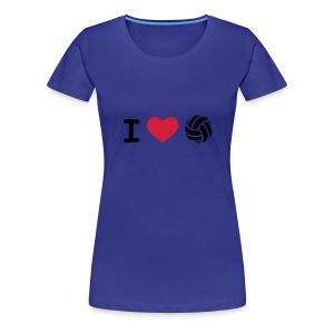 I love volley ball - T-shirt Premium Femme
