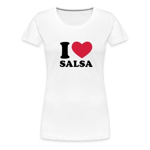 I love salsa camiseta chica - Camiseta premium mujer