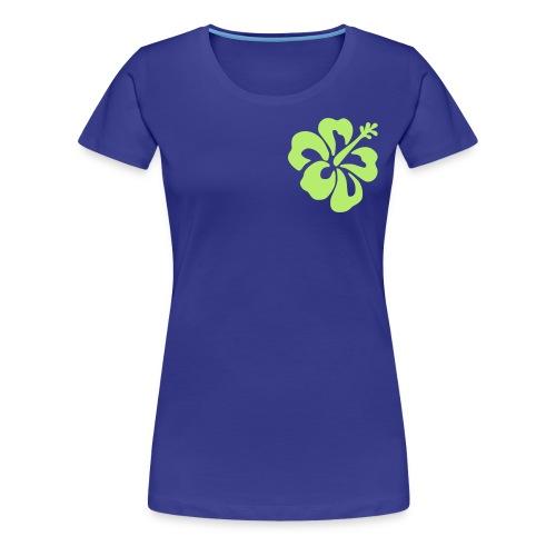 tee shirt fleur  - T-shirt Premium Femme
