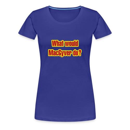MacGyver - turkis dame - Premium T-skjorte for kvinner