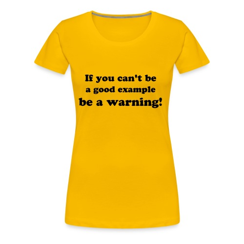 example yellow - Women's Premium T-Shirt