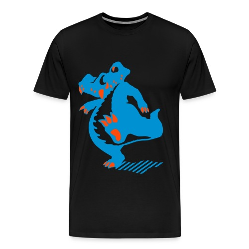 Blue croco - Premium T-skjorte for menn